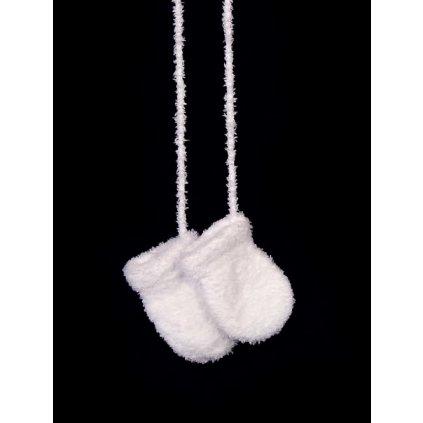 Kojenecké rukavice - bezpalcové (Farba Biela, Veľkosť 9cm)
