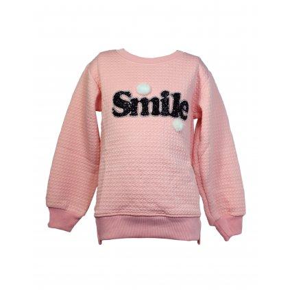 Sveter - Smile (Farba Svetloružová, Veľkosť 4r)