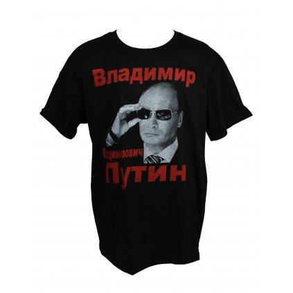 Tričko PoloTrade Putin v okuliaroch (Farba Čierna, Veľkosť M)