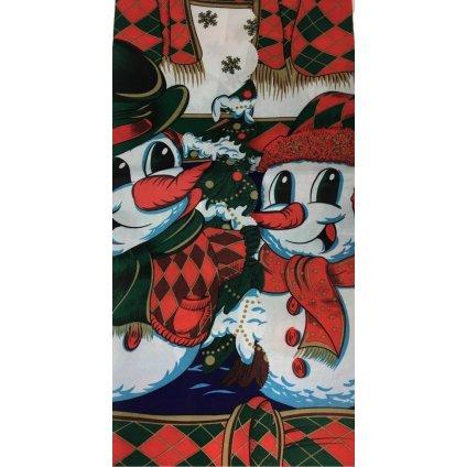 Vianočný obrus snehuliaci 150x220cm, PoloTrade (Farba Multifarebné, Veľkosť 160x220cm)