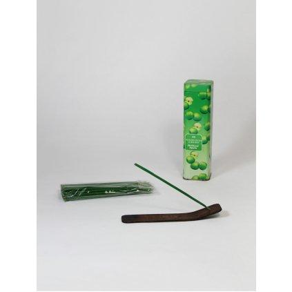 Aromatické vonné tyčinky - jablčný sad (Farba Zelená, Veľkosť 16x4cm)