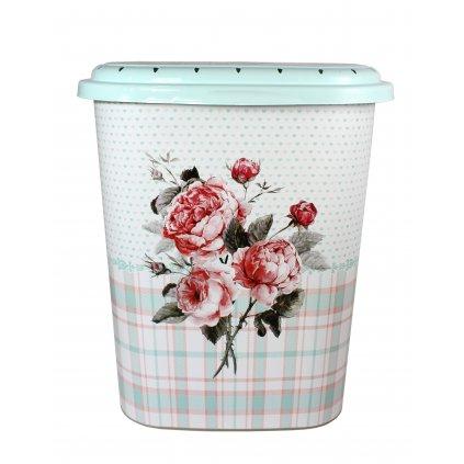 Kôš na prádlo ruže - 45l (Farba Svetlozelená, Veľkosť 45L)