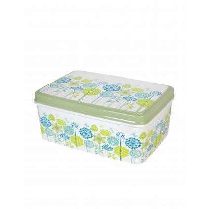 Uložny box 5,5l - kvietky (Farba Biela, Veľkosť 5.5L)