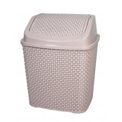 Smetný kôš 6,2l - medový plást (Farba Biela, Veľkosť 6,2L)