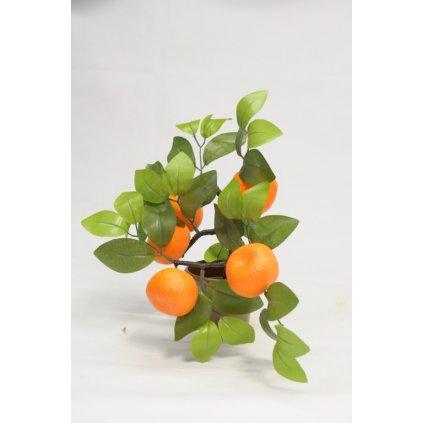 Umelý stromček - mandarínka 35cm (Farba Oranžová, Veľkosť 35cm)