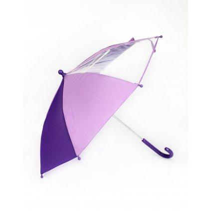 Detský dáždnik - priesvitná osmina 56cm (Farba Tmavomodrá, Veľkosť 56cm)