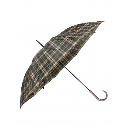 Dáždnik - károvaný vzor (Farba Tmavozelená, Veľkosť 86cm)