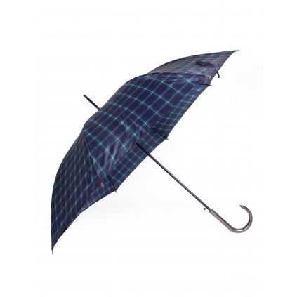 Dáždnik - káro modrá (Farba Tmavomodrá, Veľkosť 86cm)