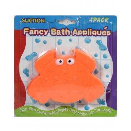 Detská prísavka do kúpeľne - krab (Farba Oranžová, Veľkosť 12x8cm)