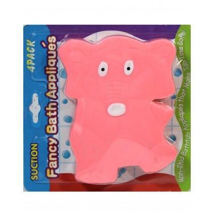 Detská prísavka do kúpeľne - slon (Farba Ružová, Veľkosť 11x14CM)