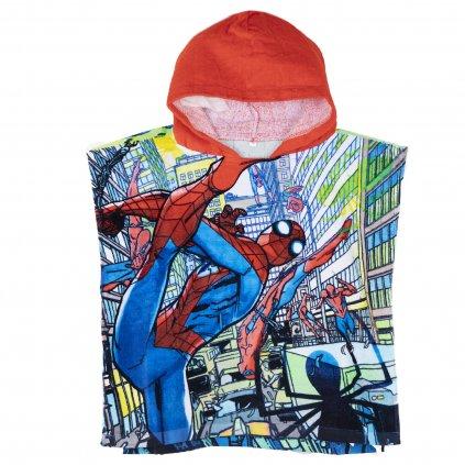 Pončo Spiderman - červené, Sun City (Farba Červená, Veľkosť UNI)