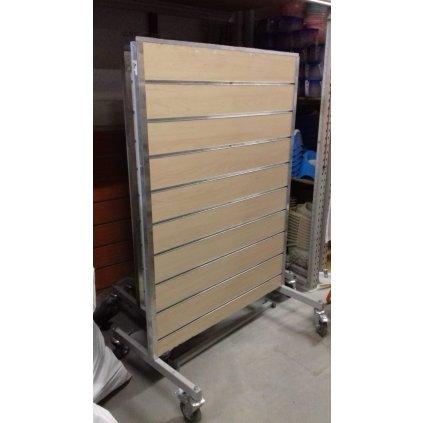 Obojstranný štender s drážkovým panelom 111*150cm (Farba Neurčená, Veľkosť Neurčená)