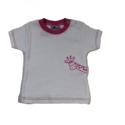 Kojenecké tričko - žirafa (Farba Ružová, Veľkosť 50)