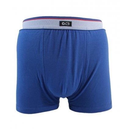 Pánske jednofarebné boxerky C+3 (Farba Čierna, Veľkosť XL)