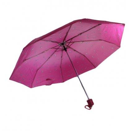 Skladací dáždnik kvapky 25cm (Farba Hnedá, Veľkosť 25cm)