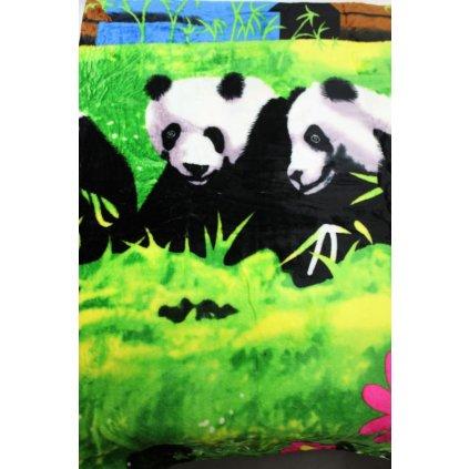 Deka pandy 150x200cm, PoloTrade (Farba Zelená, Veľkosť 200x150cm)