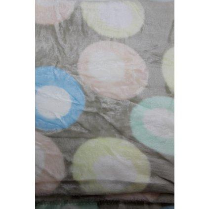 Deka kruhy 150x200cm, PoloTrade (Farba Svetlošedá, Veľkosť 200x150cm)