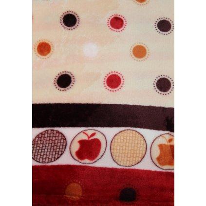 Deka jabĺčka 150x200cm, PoloTrade (Farba Multifarebné, Veľkosť 200x150cm)