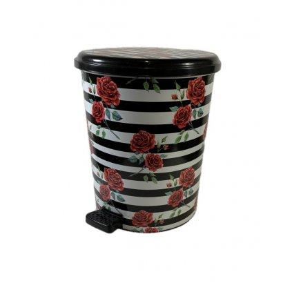 Odpadkový kôš Ruže 25L, PoloTrade (Farba Čierna, Veľkosť 25L)