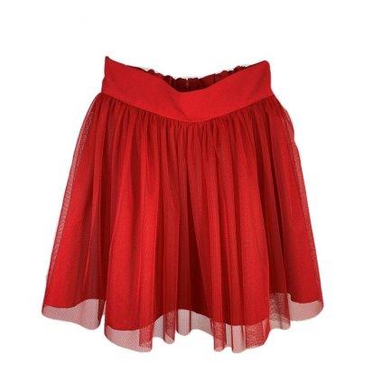 Dievčenská červená sukňa (Farba Červená, Veľkosť 128)