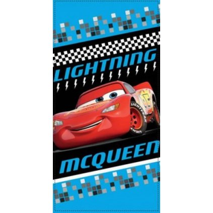 Plážová osuška Cars  Lightning MC Queen, Sun City (Farba Modrá, Veľkosť 70x140cm)