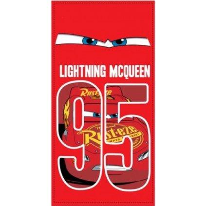 Plážová osuška Cars  Lightning MC Queen 95, Sun City (Farba Červená, Veľkosť 70x140cm)