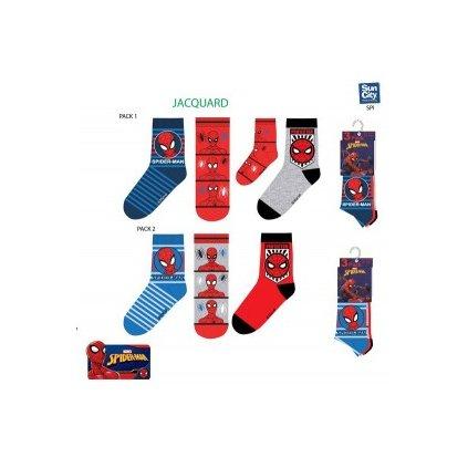 Detské ponožky Spiderman 3ks, 3 kusy v balení (Farba Tmavomodrá, Veľkosť 23-26)