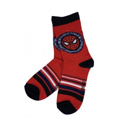 Detské ponožky Spiderman hlava (Farba Červená, Veľkosť 23-26)