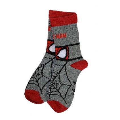 Detské ponožky Spiderman oči (Farba Svetlošedá, Veľkosť 23-26)