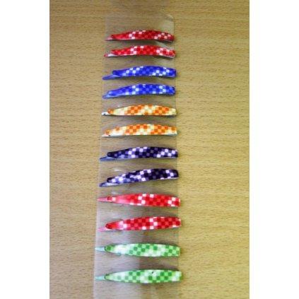 Pukačky kárované 12ks (Farba Multifarebné, Veľkosť 5.5cm)