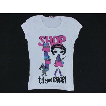 Tričko dámske - SHOP, (Farba Neurčená, Veľkosť Neurčená)