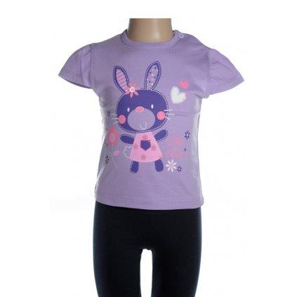 Detské tričko - zajko (Farba Svetlošedá, Veľkosť 92)