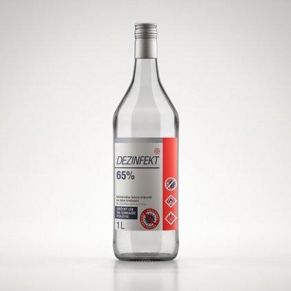 Dezinfekt 1L 65% (Farba Transparent, Veľkosť 1L)