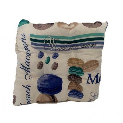 Obojstranný  hrubý sedák makrónky, PoloTrade (Farba Biela, Veľkosť 1763 - 35*35*6)