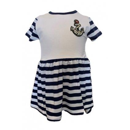 Dievčenské šaty kotvička (Farba Biela, Veľkosť 92)