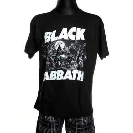 Pánske tričko Black Sabbath, čiernobiele (Farba Čierna, Veľkosť S)