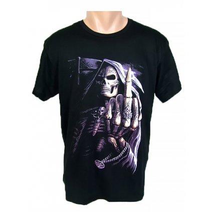 Tričko PoloTrade - Kostra prostredník (Farba Čierna, Veľkosť M)