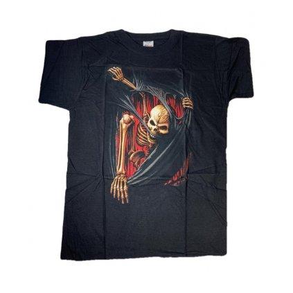 Pánske tričko PoloTrade Kostra (Farba Čierna, Veľkosť M)
