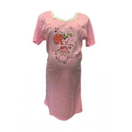Dámska tehotenská nočná košeľa myška so srdcom (Farba Svetložltá, Veľkosť M)