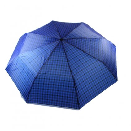 Skladací dáždnik káro (Farba Tmavomodrá, Veľkosť 25cm)