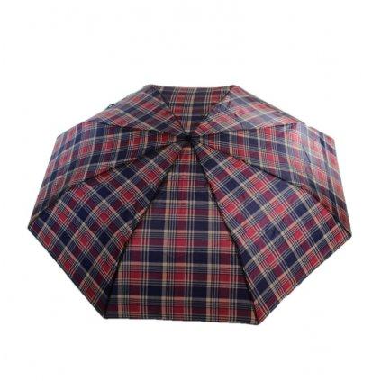 Skladací károvaný dáždnik (Farba Čierna, Veľkosť 25cm)