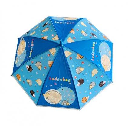 Dáždnik detský ježko 66cm (Farba Svetlomodrá, Veľkosť 66cm)