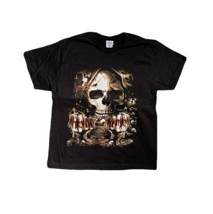 Tričko PoloTrade HELL TIME, obojstranná potlač (Farba Čierna, Veľkosť S)
