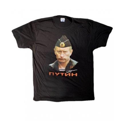 Tričko PoloTrade Putin, obojstranná potlač (Farba Čierna, Veľkosť S)