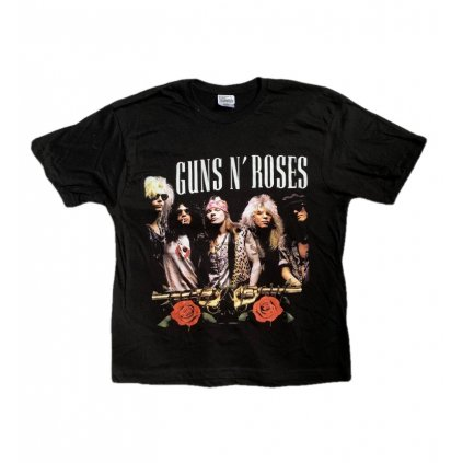 Tričko Guns N Roses s obojstrannou potlačou (Farba Čierna, Veľkosť S)