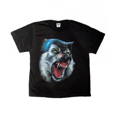 Tričko PoloTrade Evil wolf s obojstrannou potlačou (Farba Čierna, Veľkosť S)