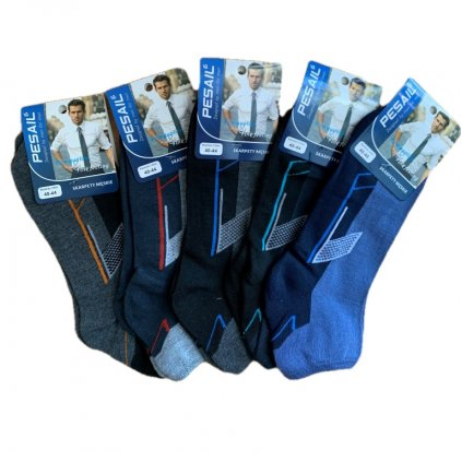 Pánske členkové ponožky - čiary (Farba Čierna, Veľkosť 40-44)