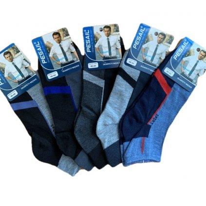 Pánske členkové dvojfarebné ponožky (Farba Čierna, Veľkosť 40-44)