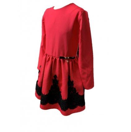 Dievčenské šaty - krajka na sukni (Farba Šedá, Veľkosť 128)