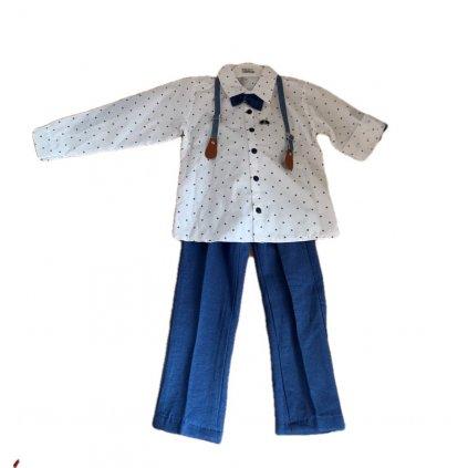 Chlapčenský oblek hviezda (Farba Tmavomodrá, Veľkosť 110)